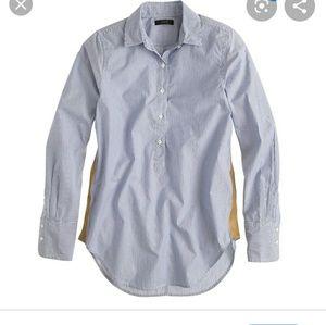 J.Crew striped popover button 100% cotton